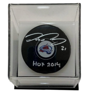 Peter-Forsberg-Hockey-Signed-amp-Inscribed-Puck-w-Acrylic-Display-Case