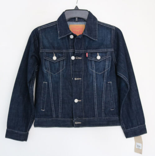 Small Levi/'s Kid/'s 8 to 10 year Boy/'s Girl/'s Youth Denim Jean Trucker Jacket NWT