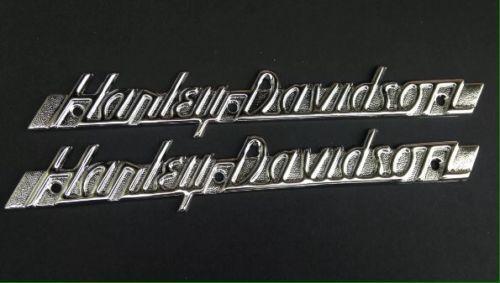 Gas Tank Saddlebag Emblems Badges Harley Panhead 51 54 Custom Script K Model Wla