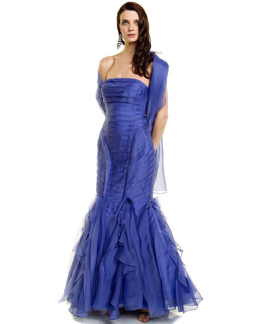 Nwt  1495 Theia Couture Lux Seide Abend Ball Schönheitswettbewerb Formell Kleid