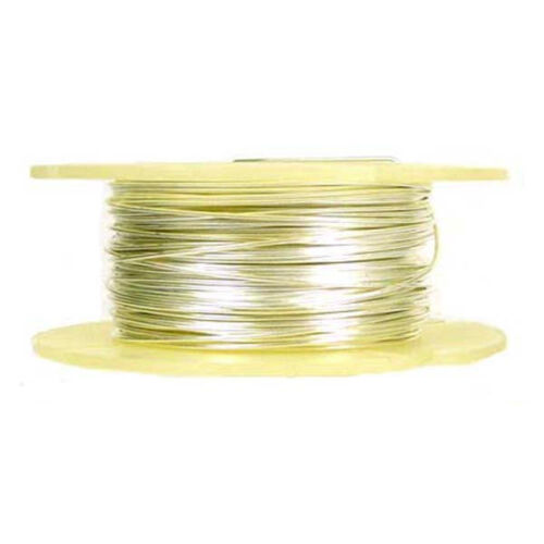 26 gauge 925 round solid shiny Sterling Silver Beading Wire half hard 38ft spool