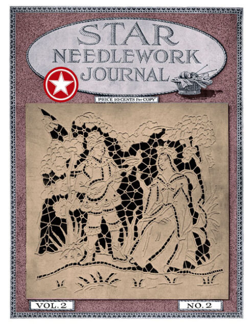 Star Needlework Journal #2.2 c.1917 Filet Crochet Church Lace, Knitting Tatting