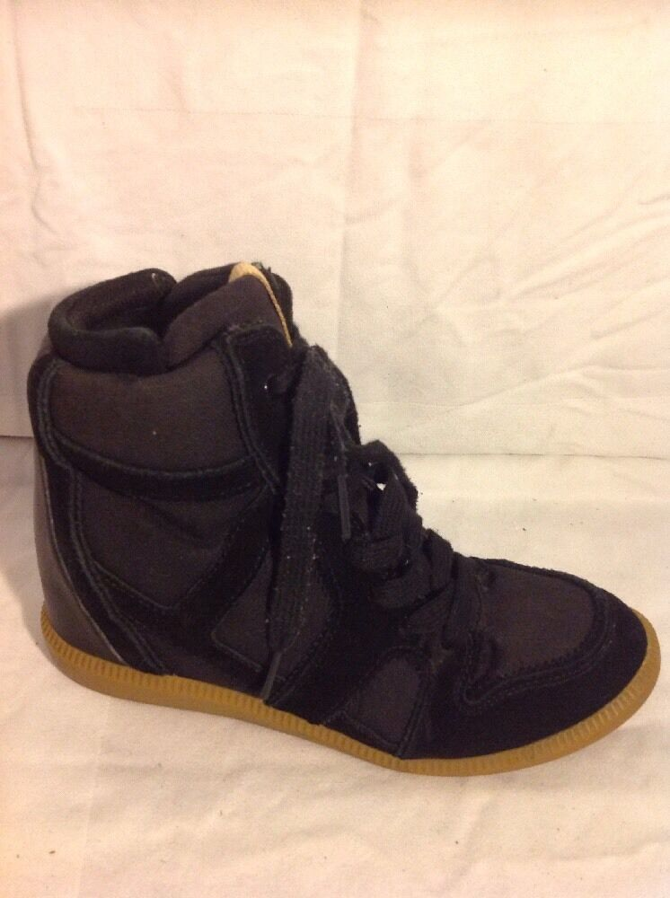 Zara Trafaluc Black Ankle Suede Boots Size 38