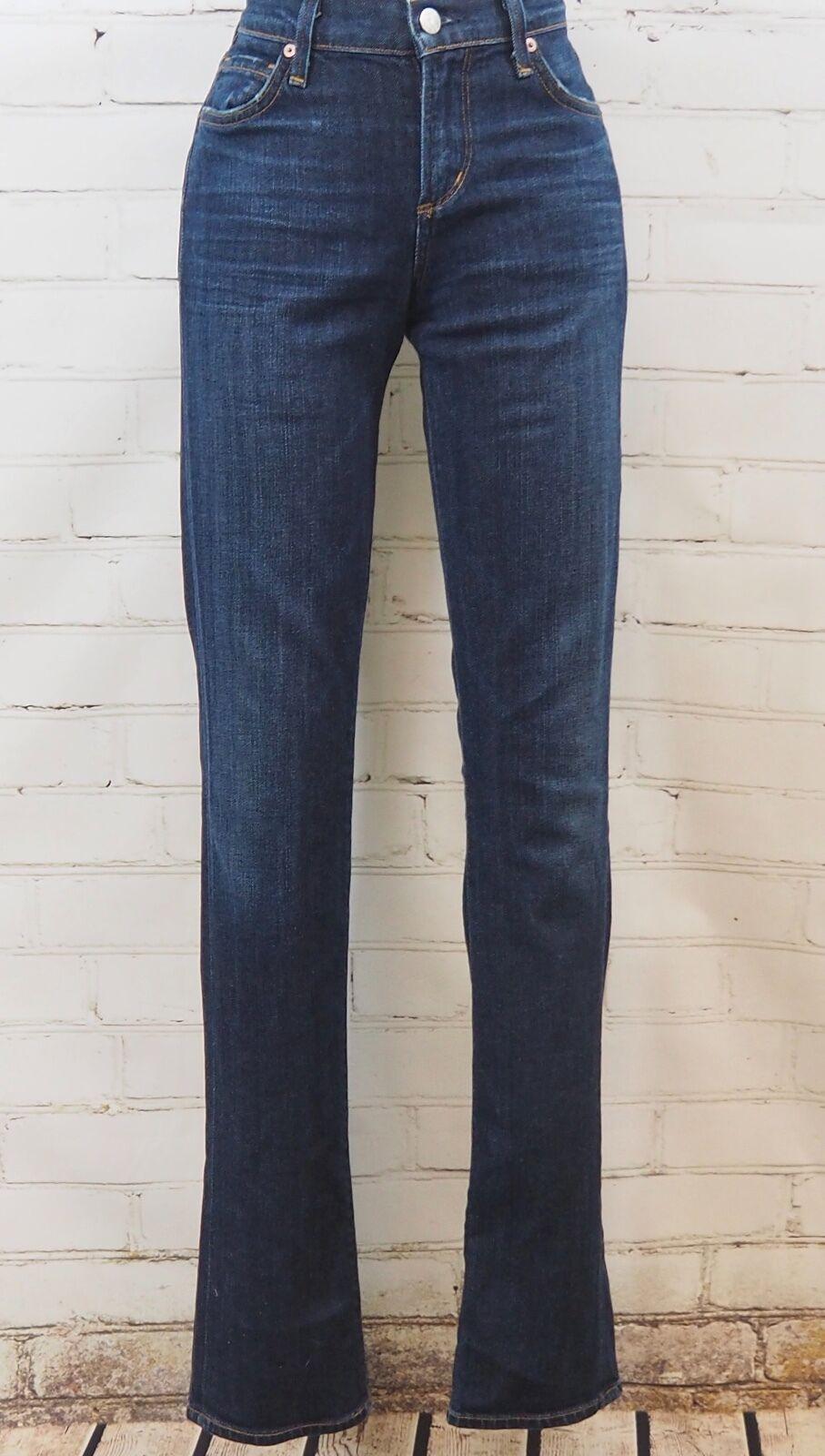 Citizen's of Humanity Elson Jeans Medium Rise Straight Leg Dark Rinse Size 25