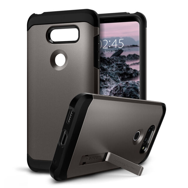 check out f378a 934b8 LG V30 Spigen Case Hybrid Tough Armor Heavy Duty Cover With Kickstand  Gunmetal