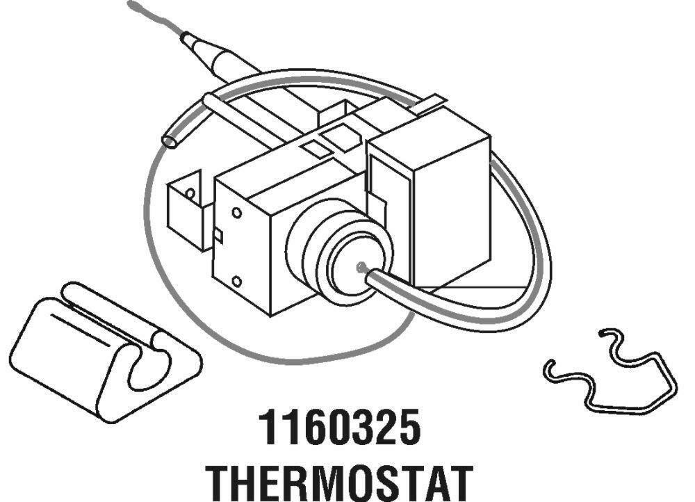 Whirlpool 1160325 Temperature Control Factory Thermostat For 1160214