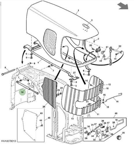 John Deere bonnet gas strut Genuino AL174087 6 7 serie Rociador De Tractor
