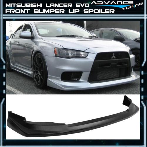 Fits 08-15 Mitsubishi Lancer EVO 10 X Front Bumper Lip Spoiler Polyurethane PU