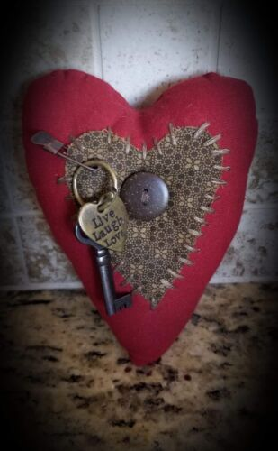Primitive Home made Vintage Hearts