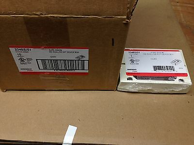 LOT OF 10 2348S//51 Wiremold  Sure-Snap NM Shallow EXT Device Box 2348S//51-WH