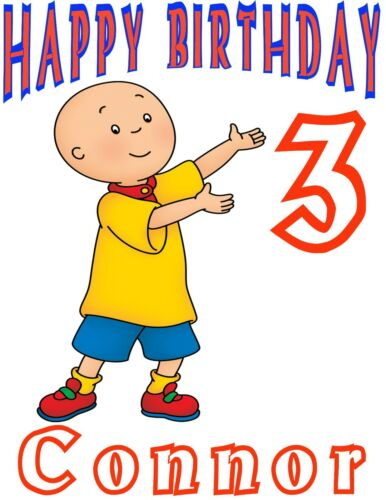 Personalized Custom Great Caillou Birthday Party Gift T Shirt Name Age On Shirt