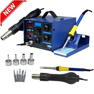862D+ 2in1 SMD Soldering Iron Hot Air Rework Station Desoldering Repair 110V NEW