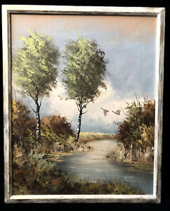 Turn of the Cent French Original Oil Painting Signed De Leeuw Impressionist