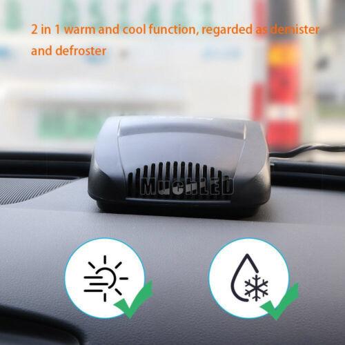 Car Truck Portable 2 in1 Heating Cooling Fast Heater Fan Defroster Demister 12V