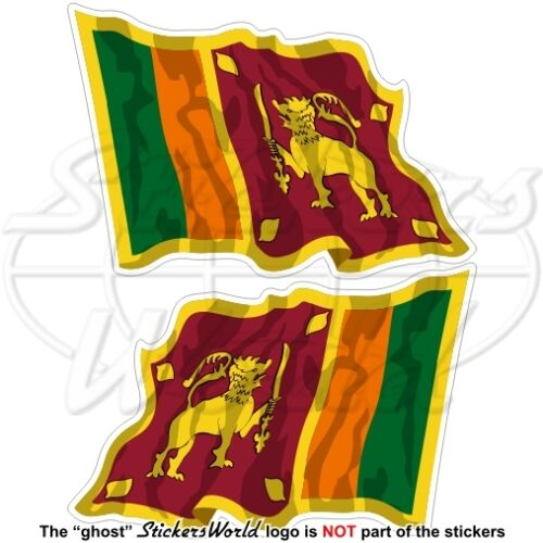 "SRI LANKA Sri-Lankan Flying Flag Ceylon 120mm Bumper Stickers Decals x2 4,7/"""