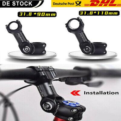 60 Lenkerklemmung Fahrrad Ahead Lenkervorbau Alu 90//110mm 31,8mm Verstellbar //