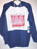Leon Levin Sailboat Tall Ship Hoodie Sweatshirt Red White Blue Size Small