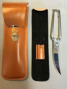 Fine Vtg Italian Cutlery Poultry Sportsman Game Shears & Sheath Anglo Bank gift