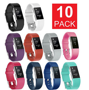 10-Pack-Replacement-Wristband-For-Fitbit-Charge-2-Band-Silicone-Fitness-Sport