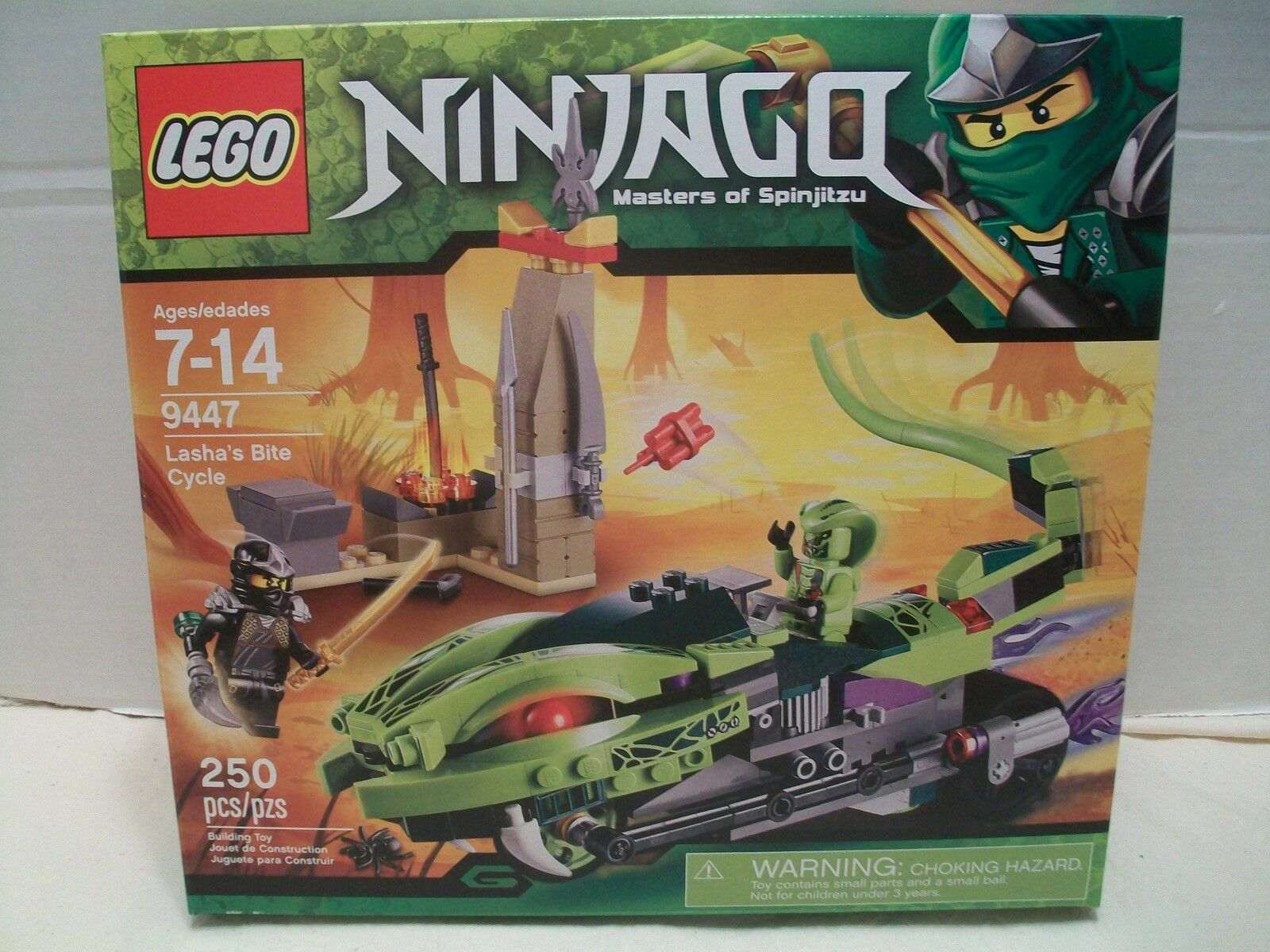 Lego Ninjago Masters Of Spinjitzu Lasha's Bite Cycle Rare & HTF NIB 2012