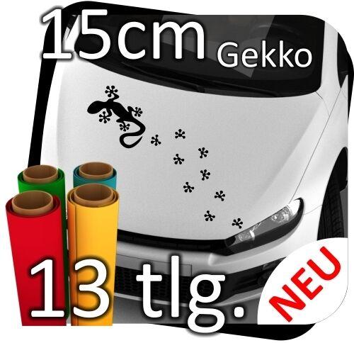 15cm Auto Autoaufkleber Sticker Aufkleber Tribal Tuning Gekko Gecko Echse Spuren