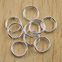100pcs Silver tone  Findings jump Rings h0709