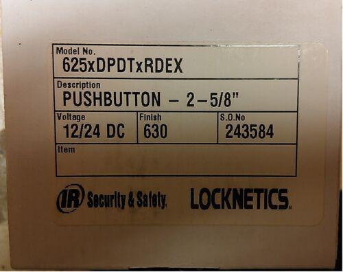 Locknetics 625RDEX DPDT Mushroom Button