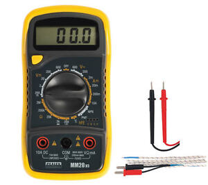 Details about Sealey MM20 Digital AC DC Multimeter/Voltmeter + Test  Leads/Probe & Thermocouple
