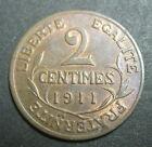 2 centimes 1911 - DANIEL-DUPUIS - III° REPUBLIQUE - SUP/SPL