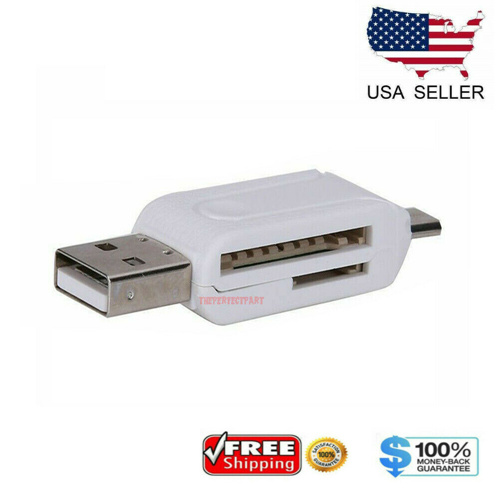 HEASEN Micro USB OTG to USB 2.0 Adapter Micro SD Card Reader for Smart Phone Tablet