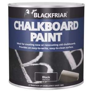Blackfriar Chalkboard Blackboard Paint Easy Write Easy Clean Black Matt 500ml