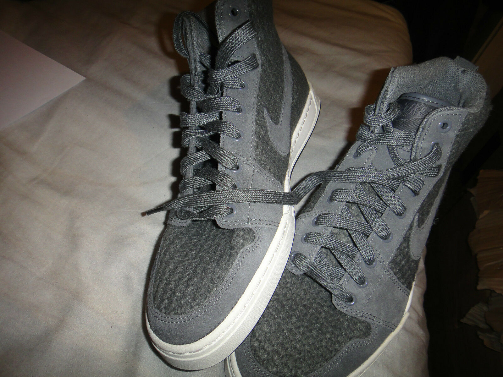 Nike Air Royal Gris Mid Knit Dark  Gris Royal  Trainers 057389