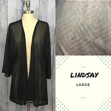 Lularoe Lindsay Large ~ Sexy Black Lace Design ~ UNICORN!!!