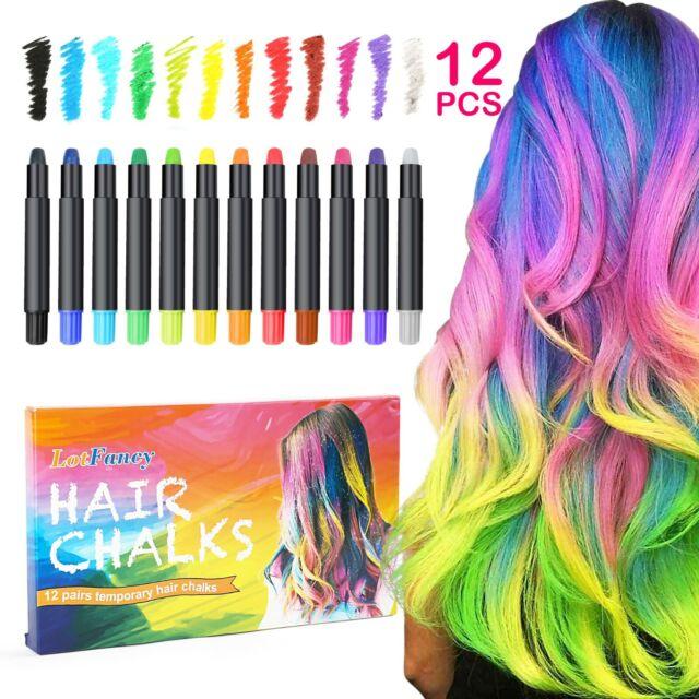 Hair Chalk 12 Colors Temporary Hair Dye Marker Washable Pen For Kids Teens Usa For Sale Online Ebay