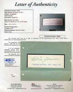 Tris-Speaker-Jsa-Coa-Autograph-Hand-Signed-1930-s-Album-Page
