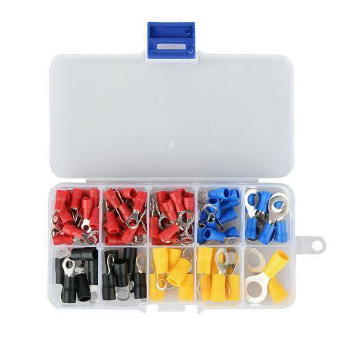 102pcs Isolierte Elektrische Crimp Ringdrahtklemmen Drahtverbindungswerkzeug Set