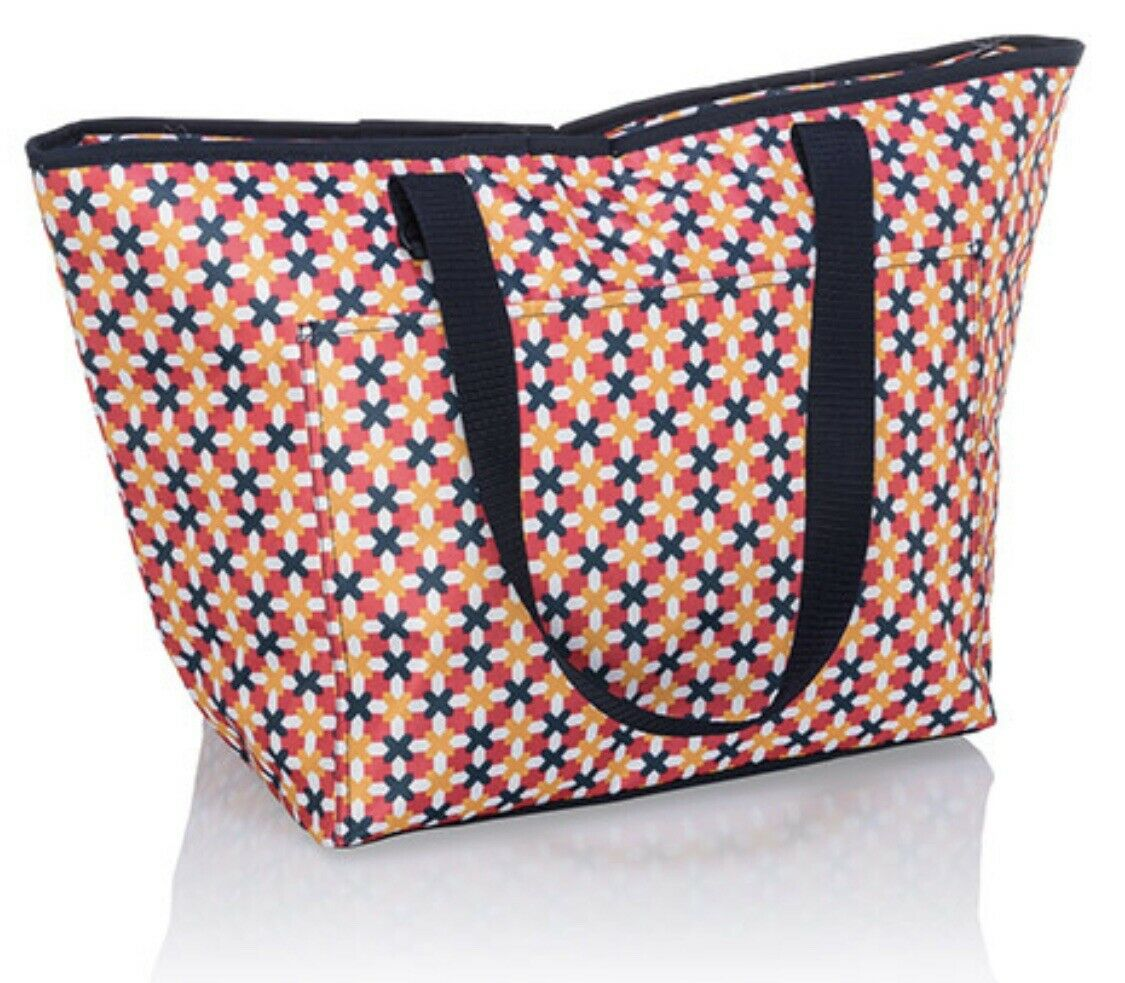 THIRTYONE Thirty One 31 Gifts Tote-Ally Toteally Thermal Tote NEW Tropical Twist