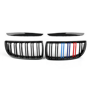 Front-Bumper-Kidney-Double-Slat-Grille-For-BMW-E90-Sedan-Wagon-320i-2007-MColor