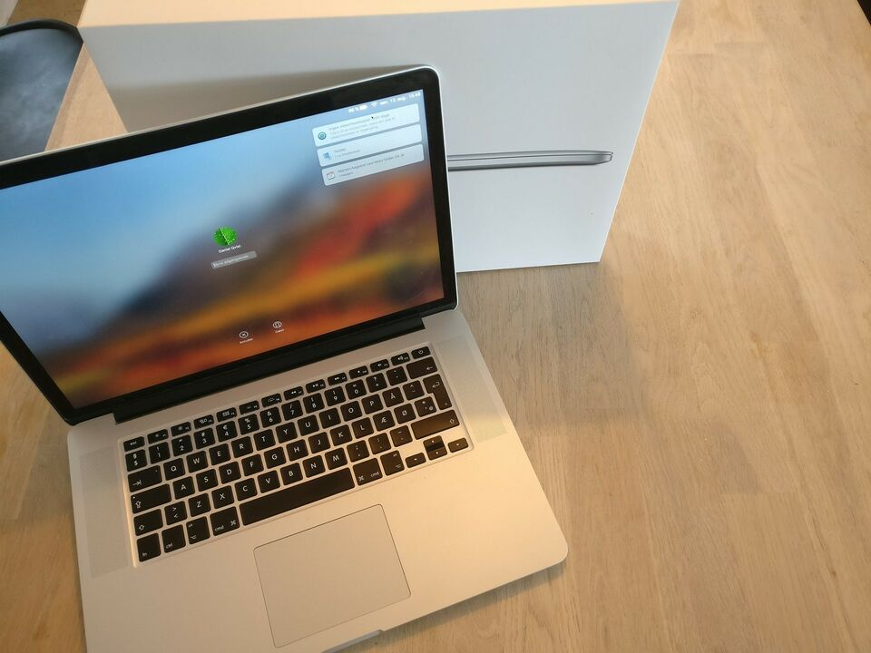 "15"" MacBook Pro i org. emballage"