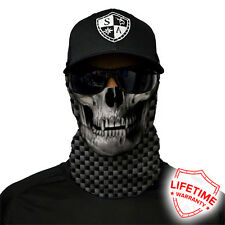 Salt Armour SA CARBON FIBER SKULL Face Shield Sun Mask Balaclava  **USA**
