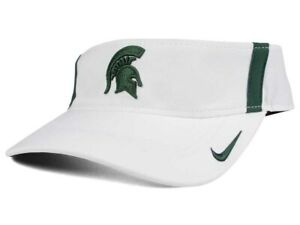 cheaper cb8b8 4a536 Image is loading Michigan-State-Spartans-Nike-NCAA-Sideline-Aero-Visor-