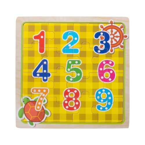 Eliiti Wooden Numbers 123 Jigsaw Puzzle for Kids 3 to 5 Years Old Boys Girls Toy