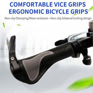 Bike-Grips-Rubber-Mountain-Bicycle-MTB-Handlebar-Ergonomic-Cycling-Lock-On-TPR