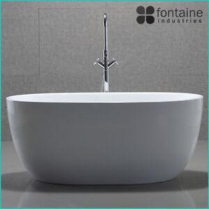 Freestanding Bath 1300 Compact Acrylic White Round Modern Bathtub | eBay