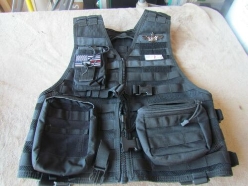 5.11 TACTICAL FLIGHT NURSE VEST REG. SIZE (BLACK)