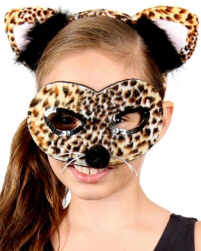 Leopard Headband And Mask Set One Size