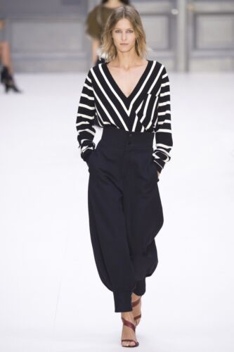 hvid Neck Sailor Stripe Xs sort Sweater i V Chloe CPFqwF