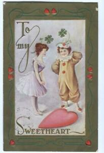 Postcard-Valentine-To-My-Sweetheart-Girl-Talking-to-Clown