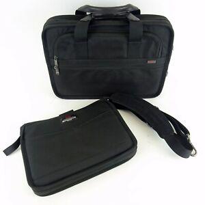 Tumi Unisex Black Compact Large Screen Laptop Brief Travel Bag 281SD3