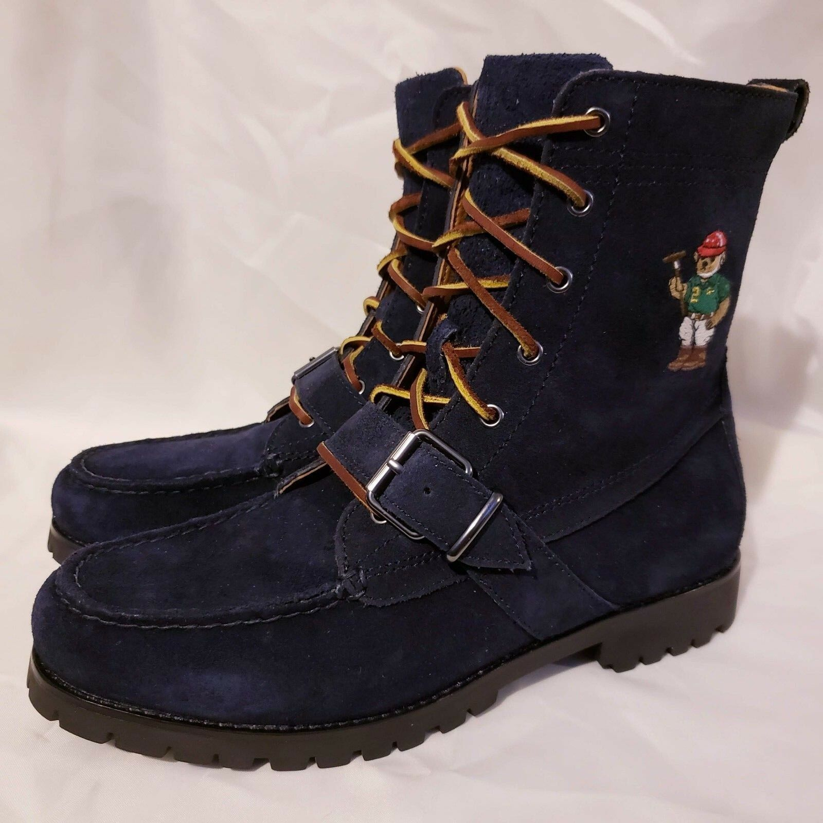 Polo Ralph Lauren Ranger Mallet Bear boots navy blue suede new toddlers shoes